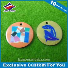 Custom printing factory maker colorful circle round dog tag