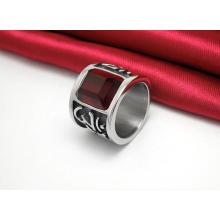 Резной Темно-Красный Циркон Классический Титана Стали Кольца Мода Ювелирные Изделия