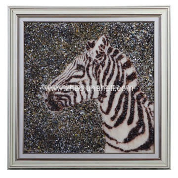 Wholesale Handmade Shell Arts Horse Head Shape Wall Picture