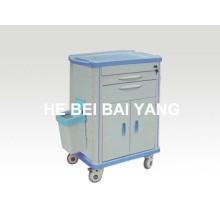 (B-70) Carrinho de Medicina Hospitalar para Cuidados de Enfermagem