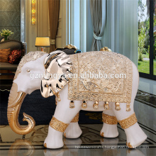 Factory wholesale ornaments large resin thailand elephant statues for sale