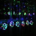 Guirlande lumineuse pour rideaux DEL Moon Star Icicle