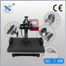 grand format 8IN1 presse à chaleur combinée machine à imprimer t-shirt