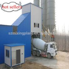 Super HZS60 Planta de mistura seca de silo de aço cimento 100ton
