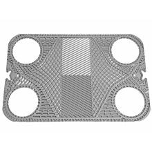 Placa para intercambiador de calor de juntas