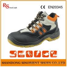Sapatos de segurança de injeção de PU Sapatos de segurança de marca para homens
