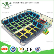 Small Indoor Trampoline Park with Safety Net