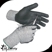 SRSAFETY Cut level 3 coated nitrile cut resistant oil resistant gloves grip