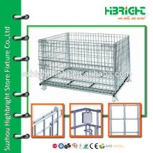 zinc plated mesh foldable security container