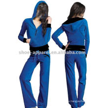 lady velour track sports suits