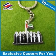 Kundenspezifisches UAE Metall Keychains Billiges Mini Keychain für Andenken