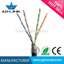 Cablagem de rede exterior única jaqueta / cabo de casaco duplo utp cat5e em cabos de comunicação