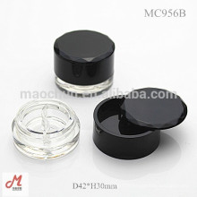 MC956B 2 couleur avec couvercle rotatif cosmétiques eye-liner gel container / eyeliner gel boîtier / eyeliner gel packaging / eyeliner gel pot