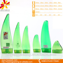 green and transparent Aloe vera shape pet bottle