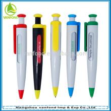 Цена Дешевые пластиковые прокрутки 6 сообщение ручка для рекламы