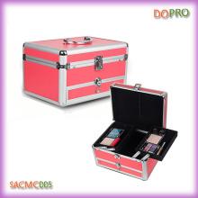 Portable rose maquillage beauté boîte cosmétique avec tiroir (SACMC005)