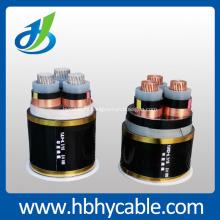 Состояние 10 кВ из сшитого полиэтилена 3*120мм медный Бронированный силовой кабель