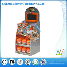 promotion stand integrated 7 inch lcd screen on top