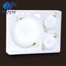Conjunto de tigela rasa de produtos vidreiros-7PCS Opal resistente ao calor