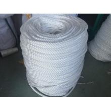 Cuerda de 3 cuerdas Cuerdas de fibra Cuerda de polietileno Cuerda de amarre de cuerda