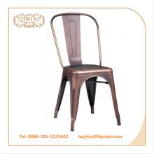chaise loft vintage en métal couleur cuivre