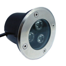 LED de alta potência ao ar livre LED Underground Lâmpada Paisagem Iluminação 3W 110V 220V 12V 24V (branco morno, branco fresco, vermelho, amarelo, verde, azul, cor RGB)