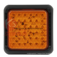 ECE Approved Square LED Turn Marker Light for Heavy Duty Truck and Trailer with Short Delivery Time and Small MOQ.