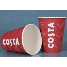 Kundenspezifische Ripple Wand Kaffee Papier Tasse