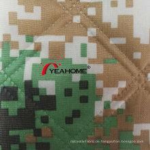 Bedruckter Oxford Camouflage Stoff Gesteppter Stoff für Autoabdeckung