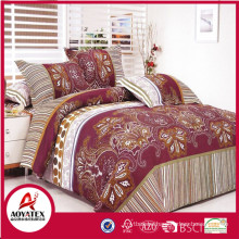 100% polyester home choice bedding set,3pc big flower pattern microfiber bedding set