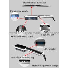 Peignoir de cheveux propres à la brosse chaude 3.Fast Hair Straightener