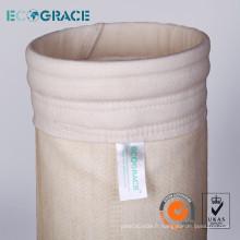 Sac de filtre Nomex pour la collecte des poussières dans l'usine de ciment