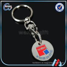 Werbeartikel Produkt Trolley Münze Schlüsselanhänger (K-191)