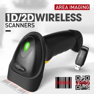 Scanner de code à barres tenu dans la main sans fil micro USB 2D d'OEM