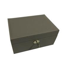 Grey jewellery box with lock