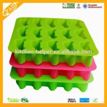 Atacado China Professional Fabricante Food Grade Homemade Non-Stick Chocolate Sabonete Candy Jelly Silicone Ice Mould