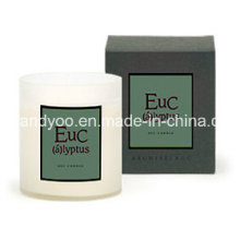 Gift Natural Soy Candle in Clear Glass Jar with Box