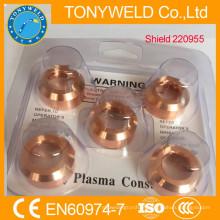 Peças sobressalentes da tocha de corte 220955 soldagem de plasma rejeitada