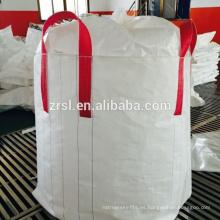 bolsa grande de plástico para envasado de alimentos, bolsa a granel de grado alimenticio tubular / bolsa grande de arroz, bolsas de polipropileno de 1000 kg