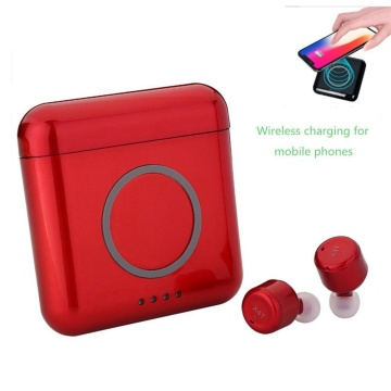 Portable wireless charging Bluetooth Earbuds