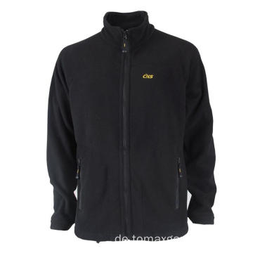 Schwarze Basic Fleecejacke
