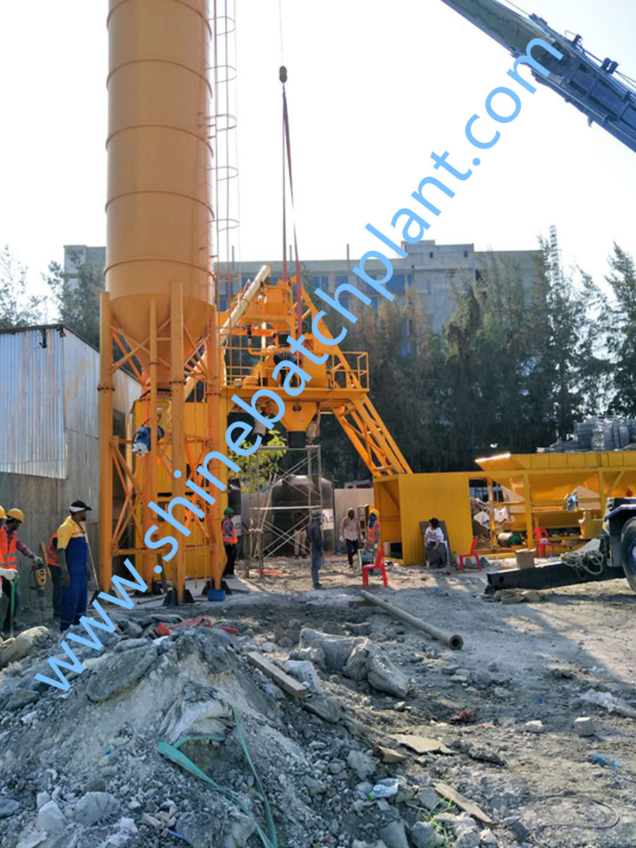 No Foundation Mobile Concrete Mixer Plant