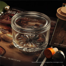 Christmas Glass Candy Jar Glass Candle Jar with Lid