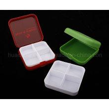 4 Gitter Pill Box, Kunststoff Pille Box Plb24