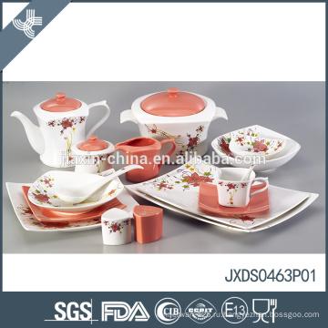 Эко дружественных 63pcs sqaure современная фарфора стиль роскоши Ближнего Востока посуда
