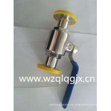 304 / 316L Válvula de bola accionada en acero inoxidable sanitaria