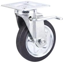 Dispositif de verrouillage de style japonais en caoutchouc doux en acier 6 roues industrielles