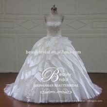 XF16052 vestido de noiva com vestido de noiva com organza de luxo 2017