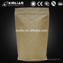 Поставщик alibaba kraft stand up пакеты / сумки для пищевой фольги / бумажный пакет с прозрачным окном