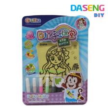 Оптовая детская рисовая доска для рисования песка с 6 бутылками цветного песка